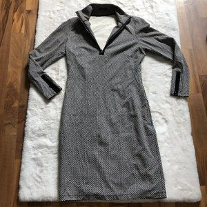 J McLaughlin Bedford patterned shift dress SZ S